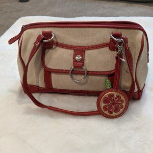 NWOT STONE MOUNTAIN Red Leather/Tan Bag